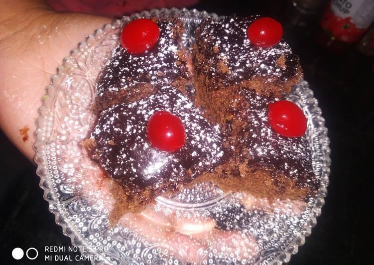 Choco glaze brownie