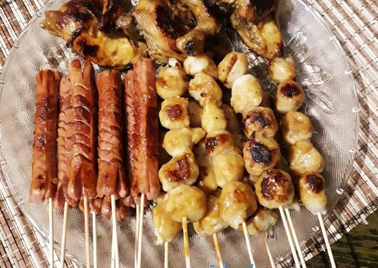 Barbeque Tahun Baru (ayam, sosis dan bakso)