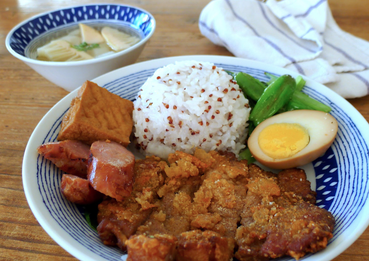 Taiwanese soul food super crispy pork chop (paigu fan)