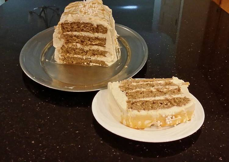 Recipe: Delicious Apple Spice Layer Torte with Caramel Mousse Filling and Frosting
