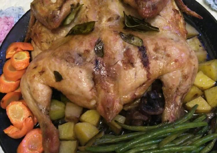 Ayam Panggang Jahe Plus Sayuran - cookandrecipe.com