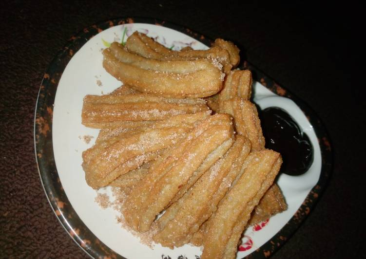 Easiest Way to Prepare Favorite Cinnamon churros and cinnamon chocolate sauce