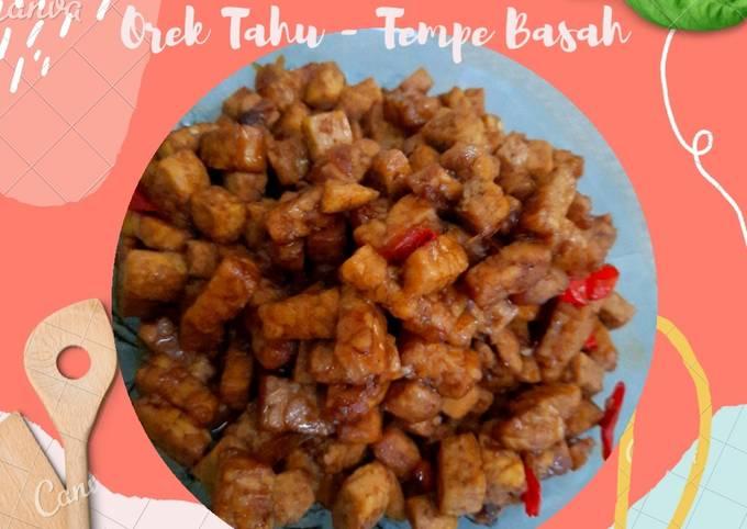 Orek Tahu - Tempe Basah