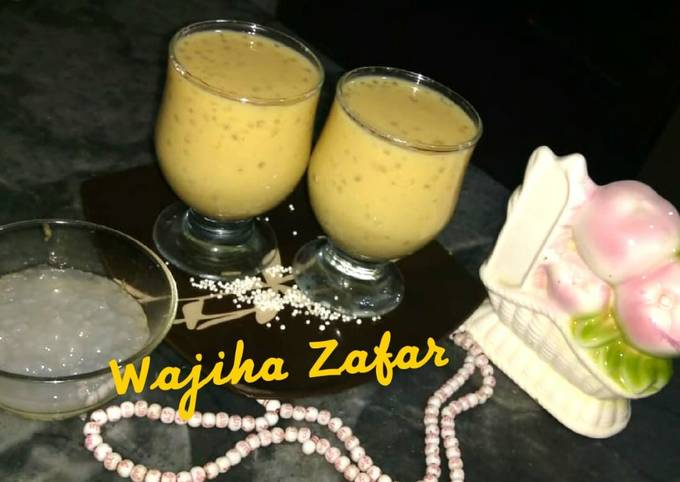 Tropical Fruity Sagodana Shake