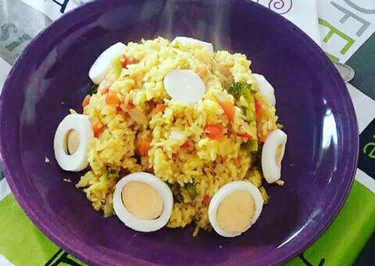 Arroz Con Verduras Y Huevo Duro Receta De Jessica Luwanga