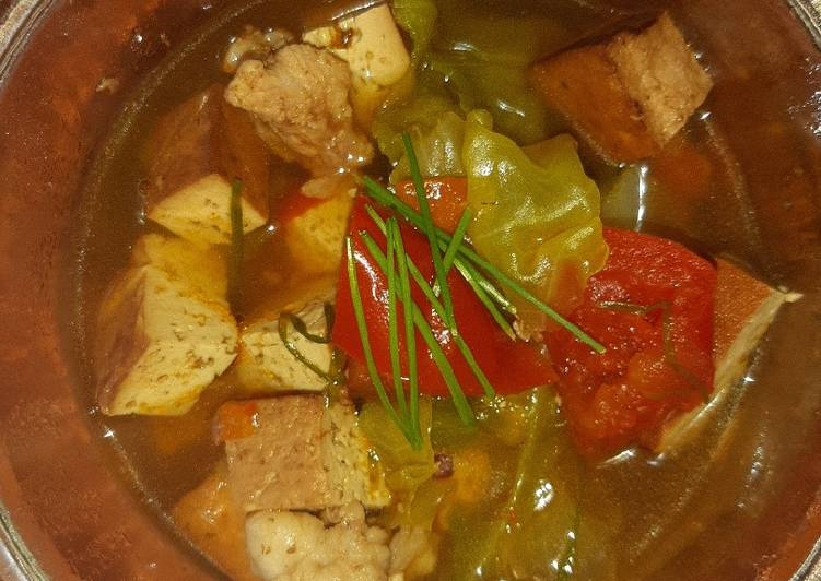 How to Cook Appetizing Smoked Tahu (Tofu) Soup 2.0