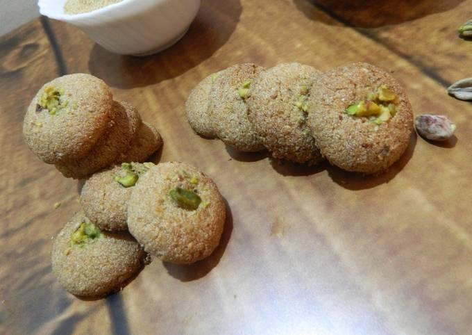 Recipe of Ultimate Gluten free Amaranth Almond Pistachio Cookies/Fasting Cookies