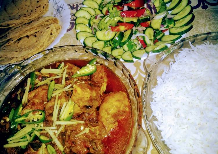 Simple Way to Prepare Top-Rated Chicken highway karahi with rice