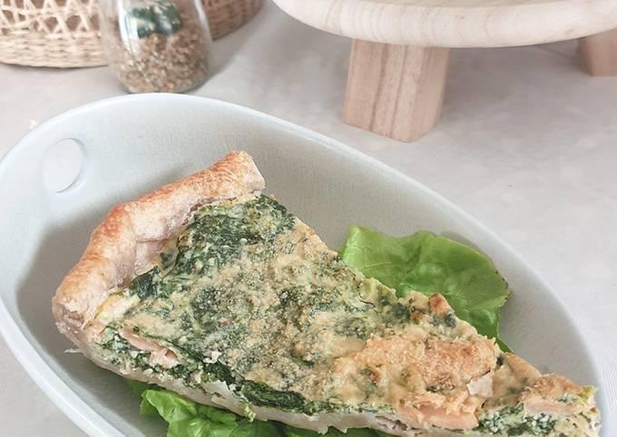 Tarte épinard/ ricotta/ saumon