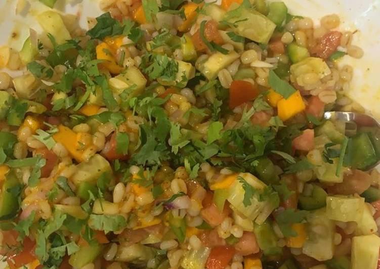 Easiest Way to Prepare Ultimate Mango and Barley Salad