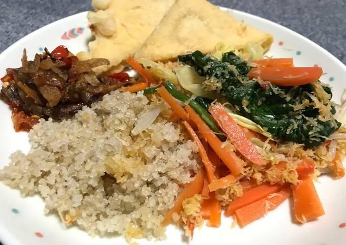 Nasi tiwul (Komplit) #SelasaBisa