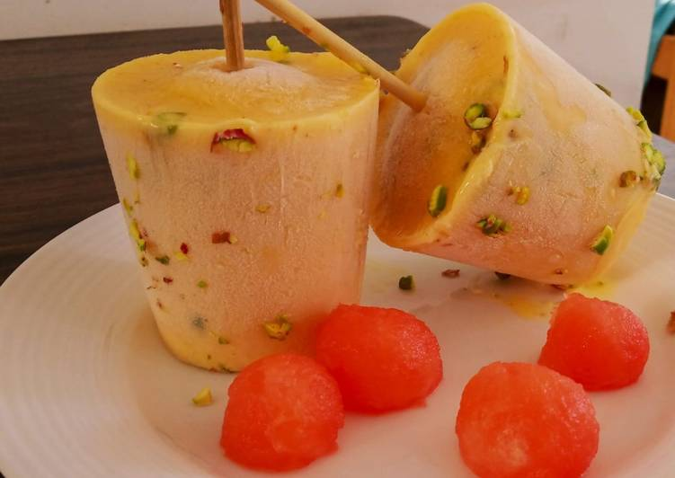 Steps to Prepare Favorite Mango Kulfi with nutmeg flavor