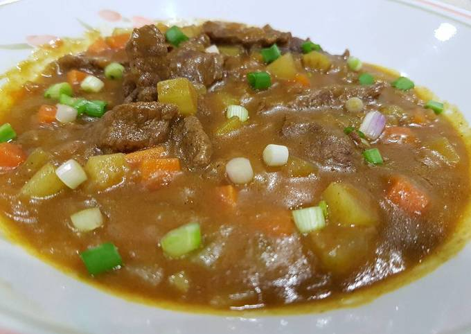 Recipe: Perfect Japanese Curry with Beef (from scratch)