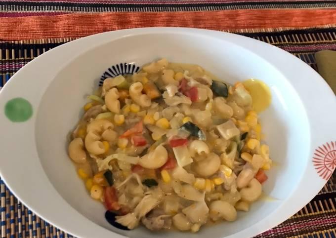 Super easy cream chicken veg stew