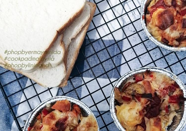 Resepi:  Mini Pizza Roti Berinti Pisang  Lazat