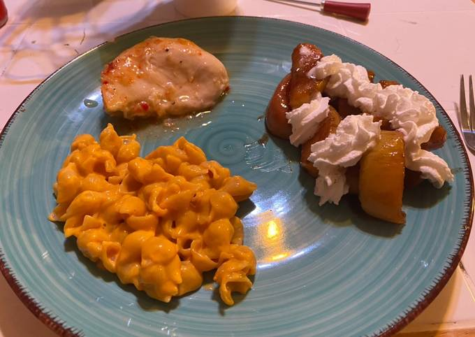 Italian Baked Chicken with Creamy Shells and Southern Fried Apple's
