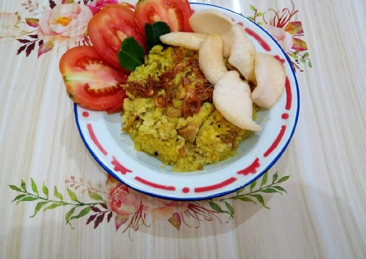 Cara Membuat Nasi Kebuli Ayam (Magicom) untuk pemula
