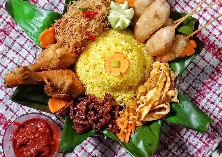 Nasi Kuning / Nasi Tumpeng Anti Gagal Pake Rice Cooker