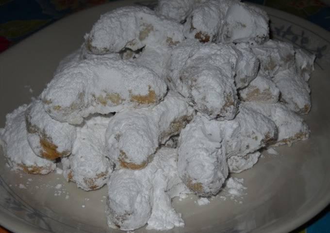 Greek Almond Crescent Cookies