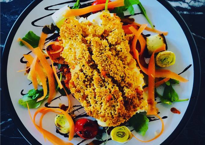 Smoked Paprika +Thyme Couscous Crumbed Cod Loin