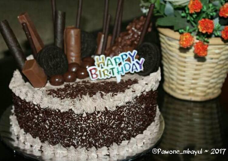 Chocolate Birthday Cake - cookandrecipe.com