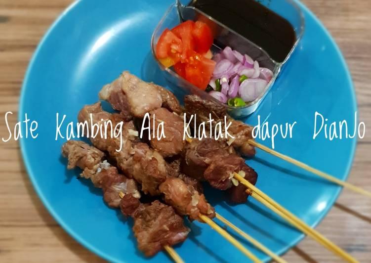 SATE kambing Ala Klatak