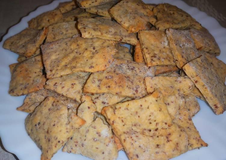 Biscuits apéro à la moutarde ancienne
