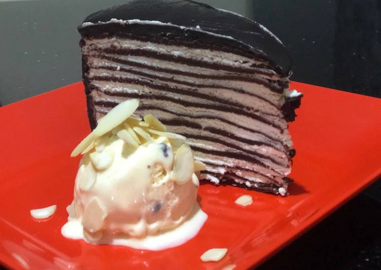 Chocolate mille crepes