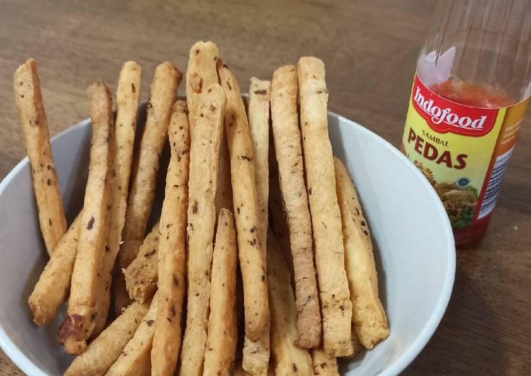 Stick Bawang/Garlic Stick (Cemilan hanya menggunakan 4bahan)