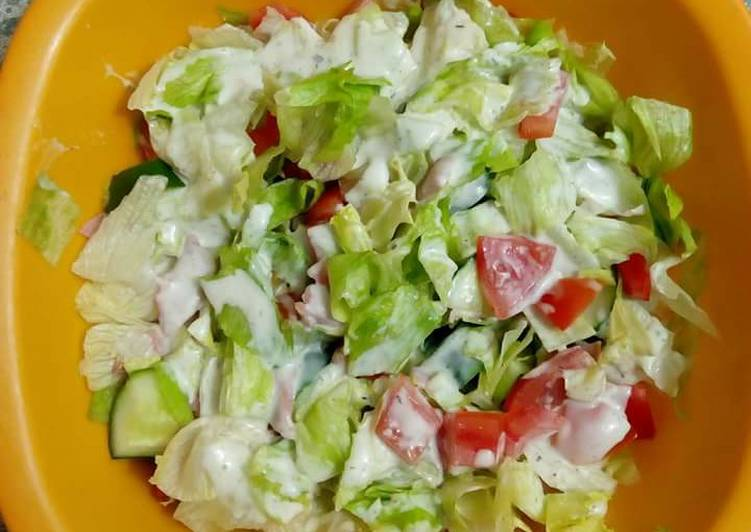 Cucumber Lettuce Salad Recipe By Morine Achieng Cookpad