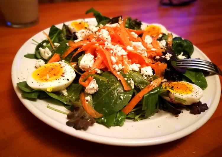 Ensalada detox con huevo y zanahoria 🥕