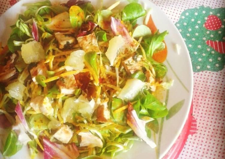 Insalata mista con pollo e limone(ricetta light)