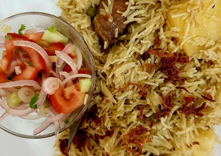 Mutton/beef/chicken pulav😊(rice cook with mutton stock)