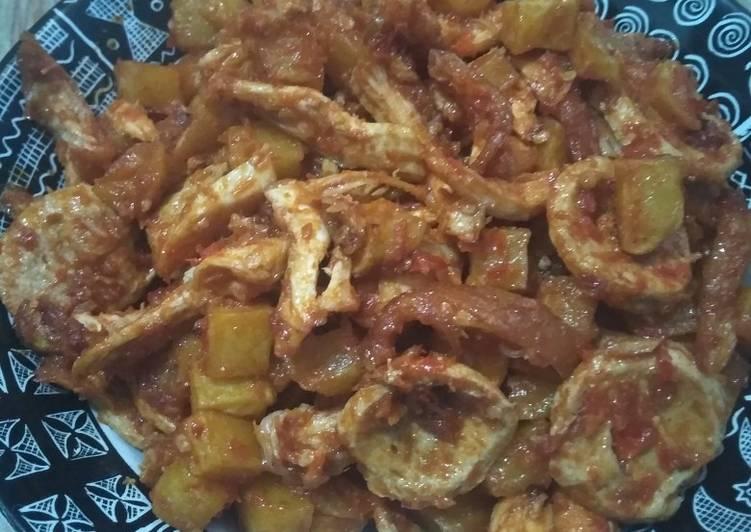 Sambel kentang suir ayam bakso 🤭