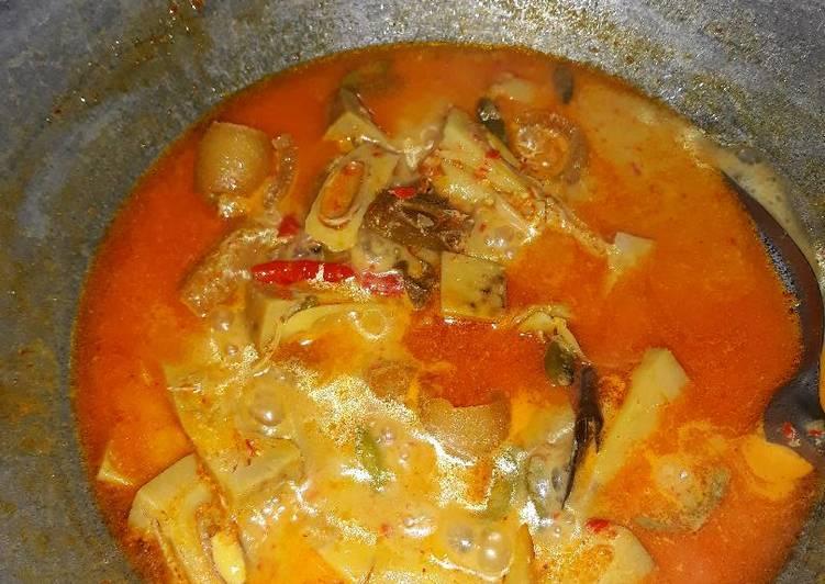 Gulai nangka + kikil