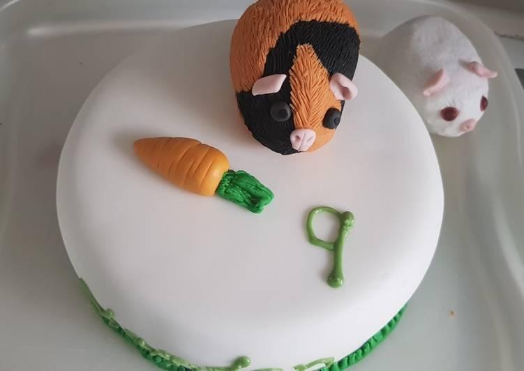 Vanilla sponge birthday cake