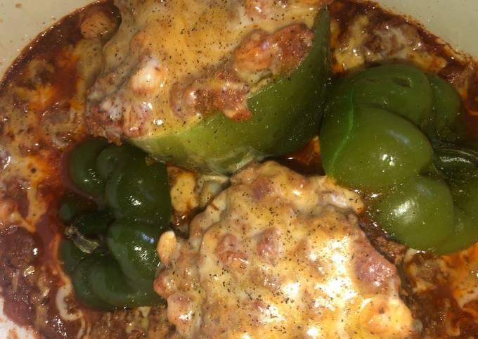 Easy taco stuffed peppers
