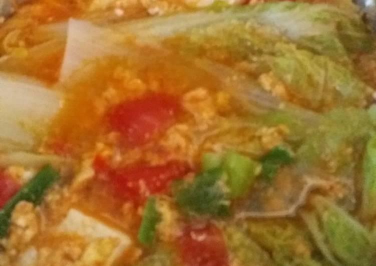 Sup sawi tahu putih ala korea