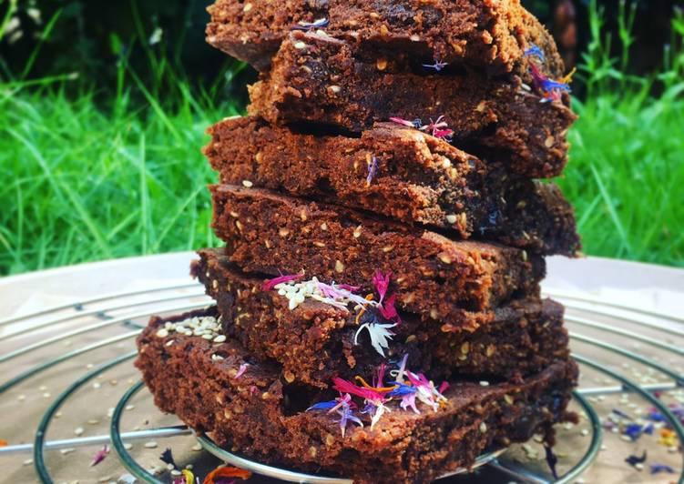 Sesam Fudge Brownies