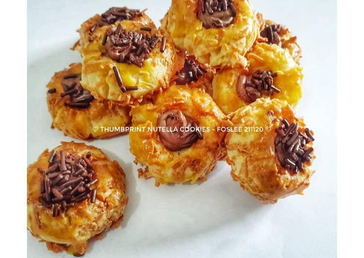 Thumbprint Nutella Cookies