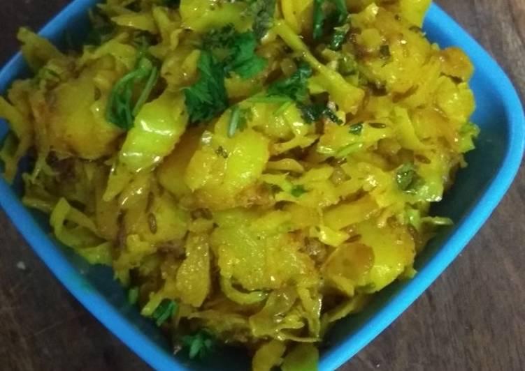 Cabbage-Potatoes Sabji
