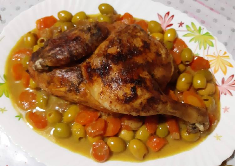 Poulet olives carottes 🍴