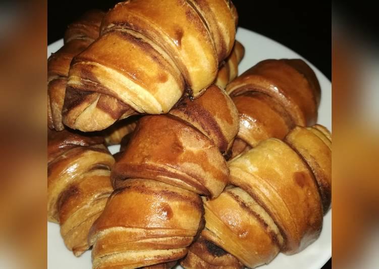 Chocolate layered Croissants