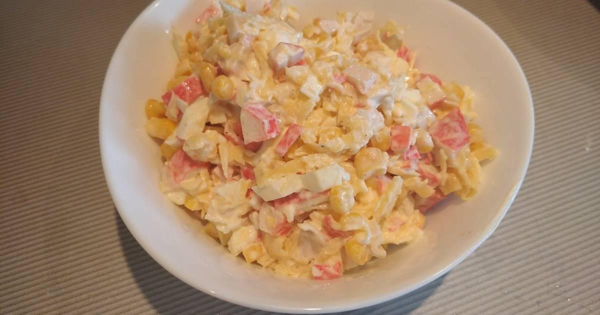 Салат крабовый рецепт с фото пошагово