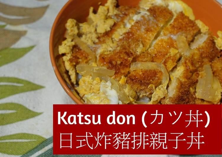 Katsudon (Japanese Pork Cutlet and Egg Rice Bowl)