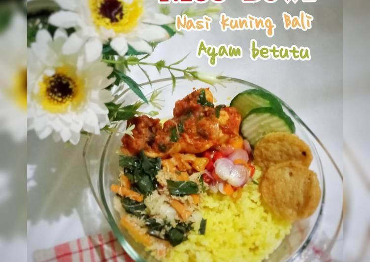 RICE BOWL (Nasi kuning Bali_Ayam Betutu)
