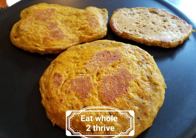 Kabocha squash Spelt sourdough flat bread