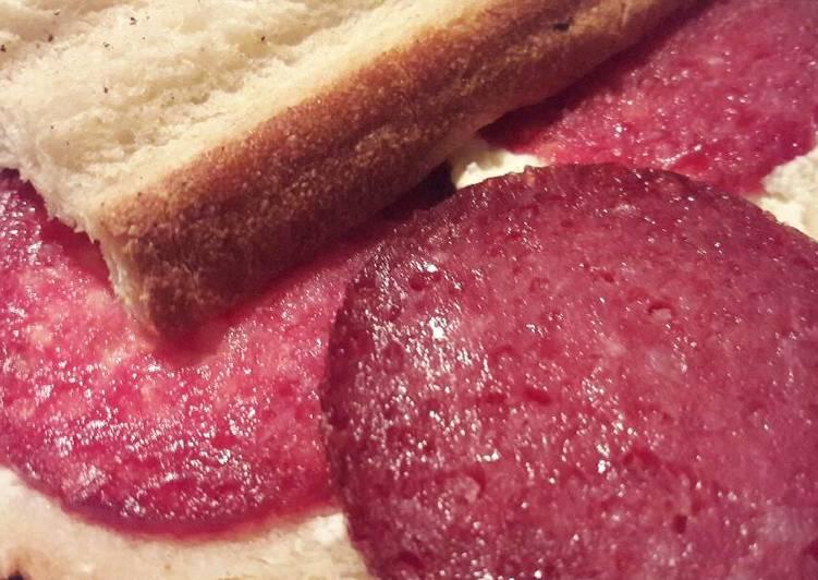 Salami and philadelphia cheese