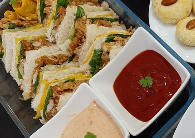 Steps to Prepare Homemade Tandoori club sandwiches