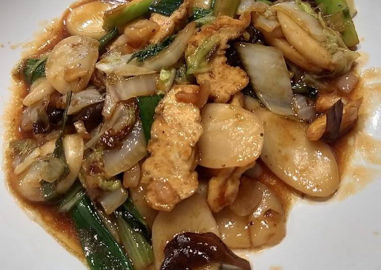 Stir fried rice cake